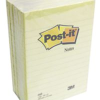 Post-it Notes XXL 101 x 152mm Lined Canary Yellow (Pack of 6) 660