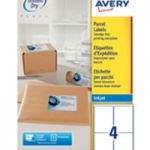 Avery QuickDRY Inkjet Label 139x99.1mm 4 per Sheet 4TV Pk 100 White J8169-100