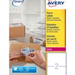 Avery Jam-Free Laser Label 199.6x143.5mm 2 per Sheet Pk 250 L7168-250 (FPC)