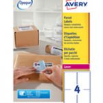 Avery Jam-Free Laser Label 139x99.1mm 4 per Sheet Pk 100 L7169-100 (FPC)