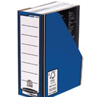 Fellowes Bankers Box Premium Magazine File Blue/White 0722904 (FPC)