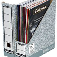 Fellowes Bankers Box Magazine File Grey/White 01860