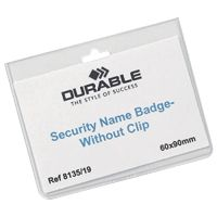 Durable Security Badge without Clip 60x90mm Pk 20 8135/19