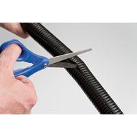 D-Line cable tidy split flexible tube 1.1m length 25mm dia Black ctt1.1/2