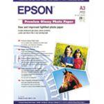 Epson Premium Glossy Photo Paper A3 Pk 20 C13S041315