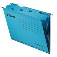 Esselte Classic Suspension File Divider Blue Foolscap 93135