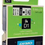 Dymo 1000/5000 Tape 6mm x7m Black/White 43613 S0720780