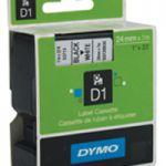 Dymo 24mm D1 Tape Black/White 53713 S0720930