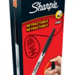 Sharpie Retractable Marker Black Pk12 S0810840