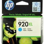 HP 920XL Ink Cartridge Cyan Officejet 6500 CD972AE CD972AE#BGX