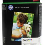 HP Photo Inkjet Cartridge x6 and Photo Papers Q7966EE