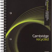 Cambridge Recycled A5 Wirebound Notebook 100 Pages (Pk 5) 400020509
