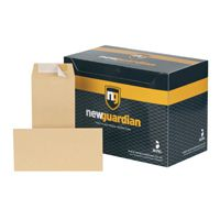 New Guardian Envelope DL 80gsm Manilla Self-Seal Pk 1000 Recycled H25411