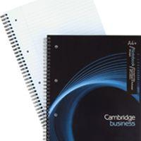 Cambridge Executive Wirebound Notebook A4+ 4-Hole Feint Margin 160pp 100080545