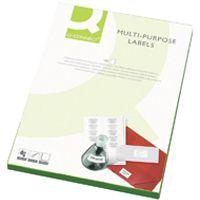 Q-Connect Multi-Purpose Label 105x42mm Butt Cut 14 per A4 Sheet Pk 100 White