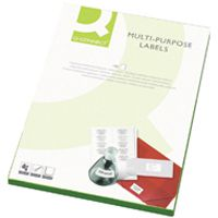 Q-Connect Multi-Purpose Label 105x37mm Butt Cut 16 per A4 Sheet Pk 100 White