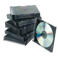 Q-Connect CD Jewel Case Slim Black Pk 25