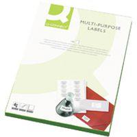 Q-Connect Multi-Purpose Label 99.1x67.7mm 8 per A4 Sheet Pk 500 White