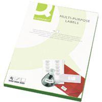 Q-Connect Multi-Purpose Label 63.5x46.5mm 18 per A4 Sheet Pk 100 White