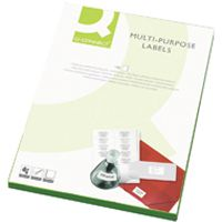 Q-Connect Multi-Purpose Label 199.6x143.5mm 2 per A4 Sheet Pk 100 White
