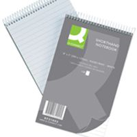 Q-Connect Shorthand Notebook 150 Leaf Ruled Feint 203x125mm