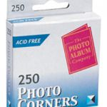Photo Album Company Photo Corners White Pk 250 PC250