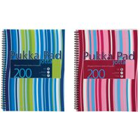 Pukka Pad Wirebound Jotta Pad A4+ Polypropylene Cover 200 Pages JP018