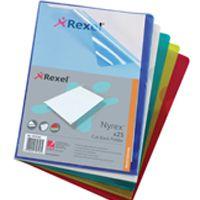 Rexel Nyrex Cut Back Folder A4 PVC Assorted Pk 25 PFA4C 12131AS