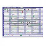 Sasco Magnetic Perpetual Year Planner 2400001