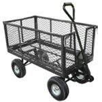 Mesh Platform Truck With Drop-Down Sides Black 380943