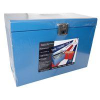 Cathedral Metal File Box Foolscap Blue HOBL