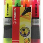 Stabilo Luminator Highlighter Pen Wallet of 4 Assorted 71/4