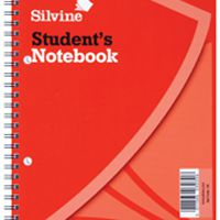 Silvine Spiral Bound Book 9x7 Inches 60 Leaf Ruled Feint (Pk 12) 139
