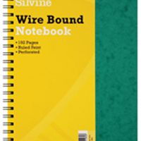 Silvine Wirebound Notebook A4 96 Leaf Ruled Feint (Pk 6) SPA4FEINT