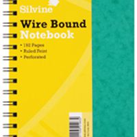 Silvine Wirebound Notebook A5 96 Leaf Ruled Feint (Pk 6) SPA5