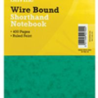 Silvine Spiral Bound Shorthand Notebook 127x203mm 200 Leaf Ruled Feint (Pk 6) 441-T