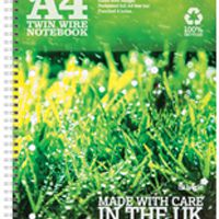 Silvine Recycled A4 Twin Wire Notebook Green 120 Pages (Pk 5) R102