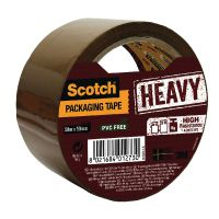 Scotch Packaging Tape Heavy 50mm x 50m Brown HV.5050.S.B