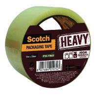 Scotch Packaging Tape Heavy 50mm x 50m Clear HV.5050.S.B