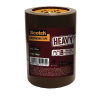 Scotch Packaging Tape Heavy 50mm x 66m Brown (Pack of 3) HV.5066.T3.B