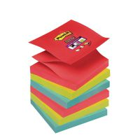 Post-it Super Sticky Z-Notes 76 x 76mm Bora Bora (Pack of 6) 70-0051-9784-6