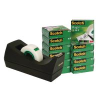 Scotch Magic Tape 810 19mm x 33m (Pack of 12) with Free Dispenser SM12