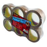 Scotch Packaging Tape Heavy 50mm x 66m Brown (Pack of 6) PVC5066F6 B