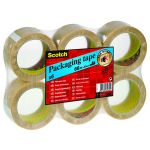 Scotch Packaging Tape Heavy 50mm x 66m Clear (Pack of 6) PVC5066F6 T