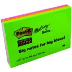 Post-it Super Sticky Meeting Notes 149x98mm Neon Assorted (Pack of 4) 6445-4SS