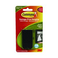 3M Command Medium Picture Hanging Strips Black (Pack of 4) 17201BLK