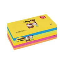 Post-it Super Sticky Z-Notes 76 x 76mm Rio (Pack of 12) R330-SSRIO-P9+3