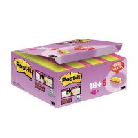 Post-it Notes Super Sticky 47.6 x 47.6mm Assorted Colours (Pack of 24) 622- P24SSCOL