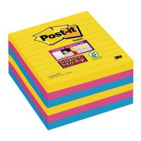Post-it Notes Super Sticky XL 101 x 101mm Lined Rio (Pack of 6) 675-SS6-RIO