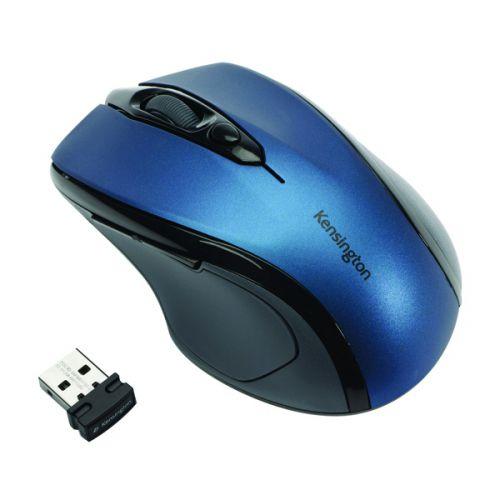 Kensington Pro Fit Mid Size USB Blue Wireless Mouse K72421WW